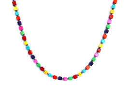 BELLASIX ® 1639-K necklace collier, 925 silver / lobster clasp, magnesite colour modified, hematine