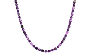BELLASIX ® 1643-K necklace collier, 925 silver / lobster clasp, amethyst, hematine