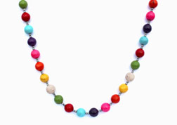 BELLASIX ® 1645-K necklace collier, 925 silver / lobster clasp, magnesite colour modified, hematine