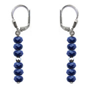 BELLASIX ® 16492-O earrings, 925 silver / lobster clasp, lapis lazuli, hematine