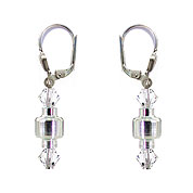 SWAROVSKI (R) crystals in combination with: BELLASIX (R) 1711-O earrings 925 silver clasp