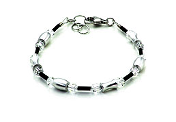 SWAROVSKI (R) crystals in combination with: BELLASIX (R) 1725-A bracelet 925 silver clasp