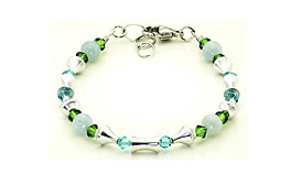 SWAROVSKI (R) crystals in combination with: BELLASIX (R) 1764-A bracelet aquamarine 925 silver clasp