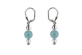 SWAROVSKI (R) crystals in combination with: BELLASIX (R) 1776-O3 earrings aquamarine 925 silver clasp