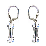 SWAROVSKI (R) crystals in combination with: BELLASIX (R) 1798-O earrings 925 silver clasp