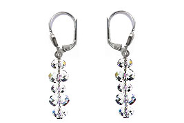 SWAROVSKI (R) crystals in combination with: BELLASIX (R) 1807-O earrings 925 silver clasp