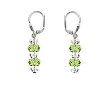 SWAROVSKI (R) crystals in combination with: BELLASIX (R) 1807-O3 earrings green 925 silver clasp