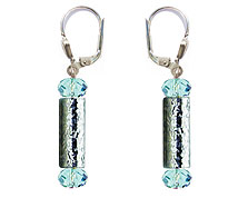 SWAROVSKI (R) crystals in combination with: BELLASIX (R) 1810-O earrings blue hand-engraved manufactured handwork 925 silver clasp manufactured handwork