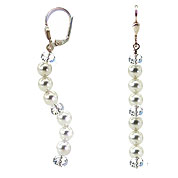SWAROVSKI (R) crystals in combination with: BELLASIX (R) 1816-O1 earrings 925 silver clasp wedding jewellery