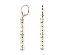 SWAROVSKI (R) crystals in combination with: BELLASIX (R) 1816-O5 earrings 925 silver clasp wedding jewellery