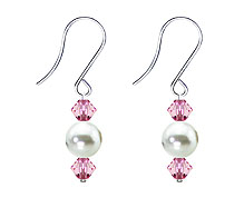 SWAROVSKI (R) crystals in combination with: BELLASIX (R) 4502-SSO earrings stainless steel (316L) earring wire mussel-stone-pearl