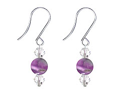 SWAROVSKI (R) crystals in combination with: BELLASIX (R) 4503-SSO earrings stainless steel (316L) earring wire amethyst