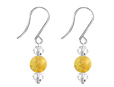 SWAROVSKI (R) crystals in combination with: BELLASIX (R) 4510-SSO earrings stainless steel (316L) earring wire citrine (yellow quartz)