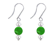 SWAROVSKI (R) crystals in combination with: BELLASIX (R) 4511-SSO earrings stainless steel (316L) earring wire jade