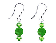 SWAROVSKI (R) crystals in combination with: BELLASIX (R) 4512-SSO earrings stainless steel (316L) earring wire jade
