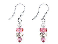 SWAROVSKI (R) crystals in combination with: BELLASIX (R) 4514-SSO earrings stainless steel (316L) earring wire