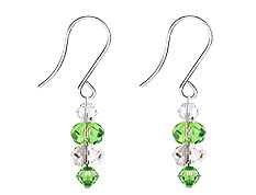 SWAROVSKI (R) crystals in combination with: BELLASIX (R) 4515-SSO earrings stainless steel (316L) earring wire