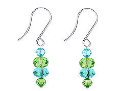 SWAROVSKI (R) crystals in combination with: BELLASIX (R) 4516-SSO earrings stainless steel (316L) earring wire