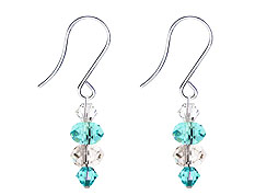 SWAROVSKI (R) crystals in combination with: BELLASIX (R) 4517-SSO earrings stainless steel (316L) earring wire