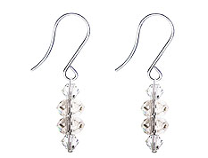 SWAROVSKI (R) crystals in combination with: BELLASIX (R) 4518-SSO earrings stainless steel (316L) earring wire