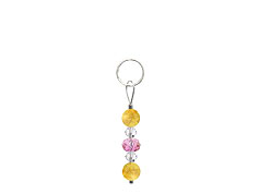 BELLASIX ® zipper pendant AR5 or handbag charm w. SWAROVSKI ® crystals in rose and crystal with citrine, total length approx. 4.5 cm