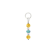 BELLASIX ® zipper pendant AR7 or handbag charm w. SWAROVSKI ® crystals in blue and crystal with citrine, total length approx. 4.5 cm