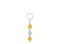 BELLASIX ® zipper pendant AR8 or handbag charm w. SWAROVSKI ® crystals and citrine, total length approx. 4.5 cm