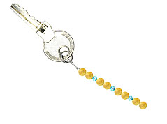 BELLASIX ® keyring pendant AS10, total length approx. 8-9 cm w. SWAROVSKI ® crystals and citrine