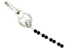 BELLASIX ® keyring pendant AS15, total length approx. 8-9 cm w. SWAROVSKI ® crystals and onyx