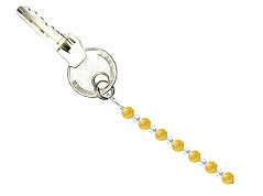 BELLASIX ® keyring pendant AS31, total length approx. 8-9 cm w. SWAROVSKI ® crystals and citrine
