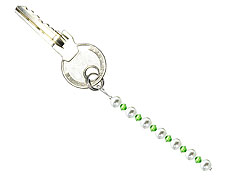 BELLASIX ® keyring pendant AS35, total length approx. 8-9 cm w. SWAROVSKI ® crystals and shell pearls