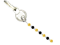 BELLASIX ® keyring pendant AS42, total length approx. 8-9 cm w. SWAROVSKI ® crystals and onyx, citrine