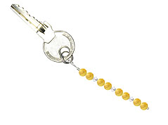 BELLASIX ® keyring pendant AS8, total length approx. 8-9 cm w. SWAROVSKI ® crystals and citrine