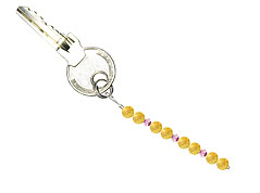 BELLASIX ® keyring pendant AS9, total length approx. 8-9 cm w. SWAROVSKI ® crystals and citrine