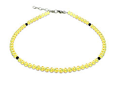 BELLASIX ® GEM Pure Line 15, citrine, necklace, 925 silver clasp