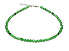 BELLASIX ® GEM Pure Line 18, jade, necklace, 925 silver clasp