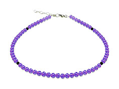 BELLASIX ® GEM Pure Line 8, amethyst, necklace, 925 silver clasp
