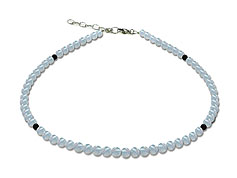 BELLASIX ® GEM Pure Line 9, aquamarine, necklace, 925 silver clasp