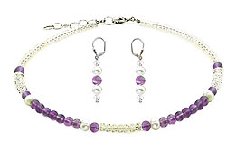 SWAROVSKI (R) crystals in combination with: BELLASIX (R) jewellery set_1716_k_1809_o4 925 silver clasp amethyst