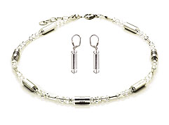 SWAROVSKI (R) crystals in combination with: BELLASIX (R) jewellery set_1722_k_1717_o4 925 silver clasp