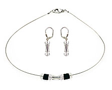 SWAROVSKI (R) crystals in combination with: BELLASIX (R) jewellery set_1733_k_1798_o 925 silver clasp
