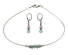 SWAROVSKI (R) crystals in combination with: BELLASIX (R) jewellery set_1738_k_1719_o4 925 silver clasp blue wedding jewellery