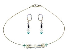 SWAROVSKI (R) crystals in combination with: BELLASIX (R) jewellery set_1740_k_1808_o3 925 silver clasp blue wedding jewellery