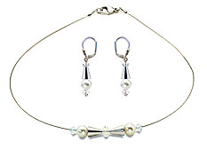 SWAROVSKI (R) crystals in combination with: BELLASIX (R) jewellery set_1741_k_1808_o2 925 silver clasp wedding jewellery