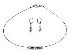 SWAROVSKI (R) crystals in combination with: BELLASIX (R) jewellery set_1745_k_1850_o 925 silver clasp wedding jewellery