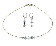 SWAROVSKI (R) crystals in combination with: BELLASIX (R) jewellery set_1749_k_1824_o 925 silver clasp wedding jewellery