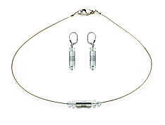 SWAROVSKI (R) crystals in combination with: BELLASIX (R) jewellery set_1750_k_1832_o 925 silver clasp wedding jewellery