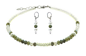 SWAROVSKI (R) crystals in combination with: BELLASIX (R) jewellery set_1759_k_1809_o3 925 silver clasp labradorite
