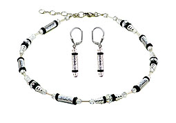 SWAROVSKI (R) crystals in combination with: BELLASIX (R) jewellery set_1762_k_1762_o1 925 silver clasp bicolor hand-engraved manufactured handwork