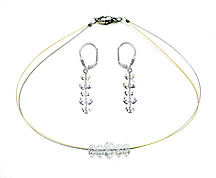 SWAROVSKI (R) crystals in combination with: BELLASIX (R) jewellery set_1782_k_1807_o 925 silver clasp bicolor 24-carat-gold-plated (yellow-Gold)